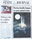 Bats on Wisconsin State Journal cover